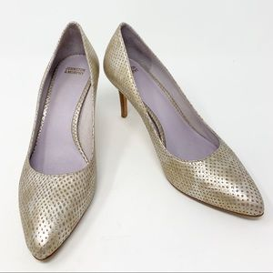 Johnston & Murphy | Gold Metallic Pumps | Size 7 M